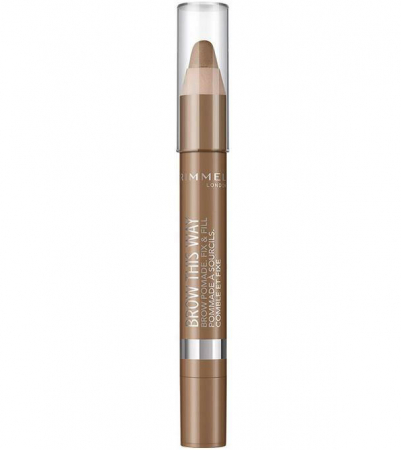 Creion pentru sprancene Rimmel London Brow This Way, 001 Light, 3.25 g