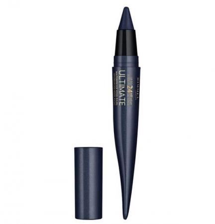 Creion Rimmel London Ultimate Kohl Kajal Waterproof Eyeliner, 004 Carbon Sapphire, 1.6 g