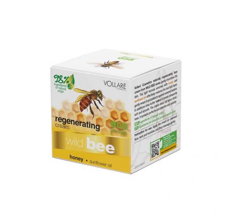 Crema regeneratoare Albina Salbatica, 98% Ingrediente Naturale, VOLLARE cu unt de shea si miere, 50 ml