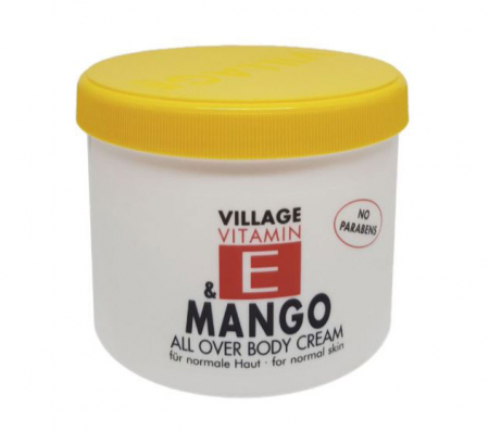 Crema De Corp VILLAGE COSMETICS Cu Vitamina E si Mango, 500 ml