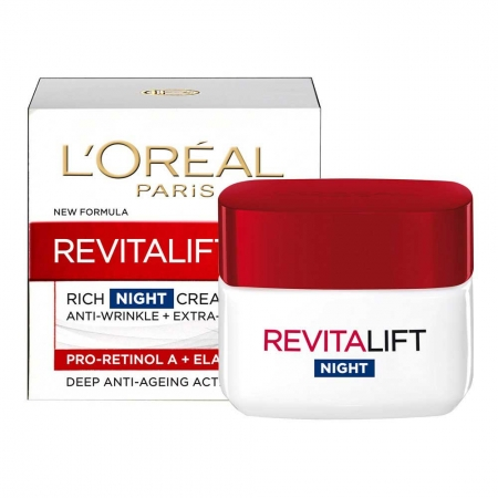 Crema De Noapte Anti Rid L'oreal Revitalift Intensive Action, 50 ml