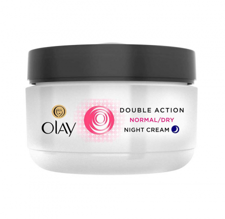 Crema De Noapte pentru Ten Normal/Uscat OLAY Double Action Nourishing Hydration + Moisture Lock Protection, 50 ml3