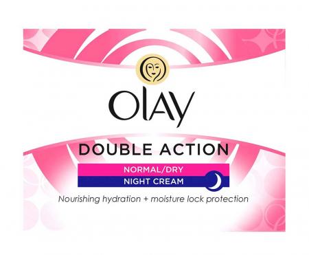 Crema De Noapte pentru Ten Normal/Uscat OLAY Double Action Nourishing Hydration + Moisture Lock Protection, 50 ml4