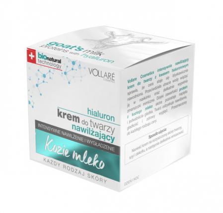 Crema cu Acid Hyaluronic si Proteine din Lapte de Capra VOLLARE Intensive, BIO, 50 ml