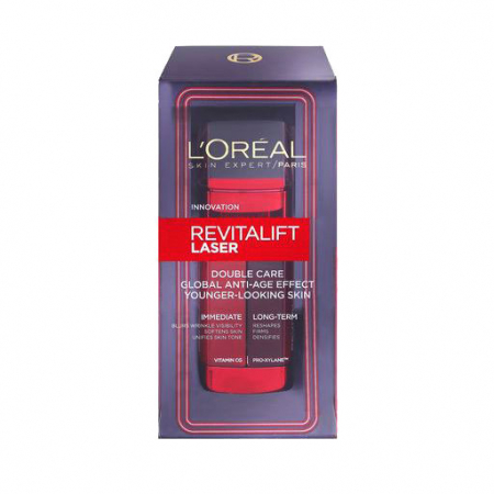 Crema De Zi Anti-Age L'Oreal Paris Revitalift Laser Double Care, 48 ml