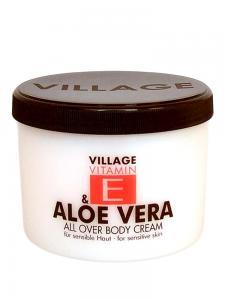 Crema De Corp VILLAGE COSMETICS Cu Vitamina E Si Aloe Vera, 500 ml