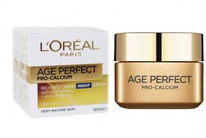 Crema De Noapte Pentru Tenul Matur L'oreal Age Perfect Pro Calcium, 50ml
