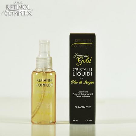 Cristale lichide cu ulei de argan Supreme Gold, Keratin Complex, 100 ml