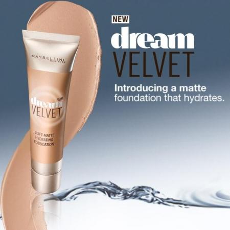 Fond De Ten Matifiant Maybelline Dream Velvet Soft-Matte Hydrating Fondation  01 Natural Ivory , 30ml1