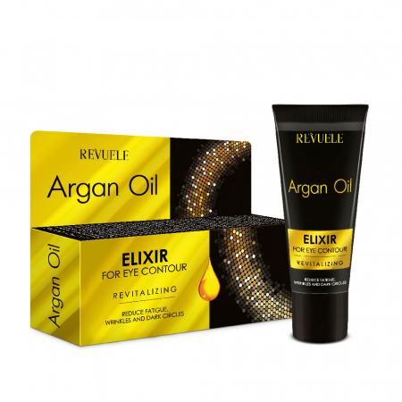 Elixir de intinerire pentru conturul ochilor cu ulei de argan, REVUELE Eye Contour, Revitalising, 25 ml