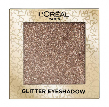 Fard de pleoape cu sclipici L'Oreal Paris Glitter Eyeshadow, 01 Stardust In Paris