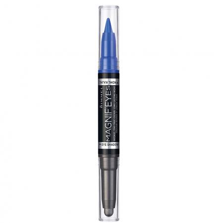 Fard de pleoape si Tus carioca Rimmel London Magnif'eyes Double, 004 Dark Side of Blue, 1.6 g0