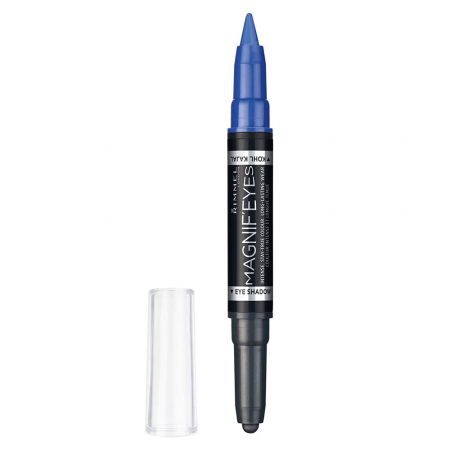 Fard de pleoape si Tus carioca Rimmel London Magnif'eyes Double, 004 Dark Side of Blue, 1.6 g1