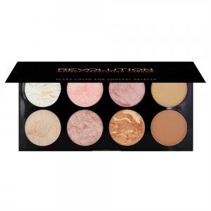 Paleta Cu 8 Blush-uri Makeup Revolution Ultra Blush  Golden Sugar1