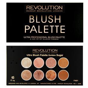 Paleta Cu 8 Blush-uri Makeup Revolution Ultra Blush  Golden Sugar2