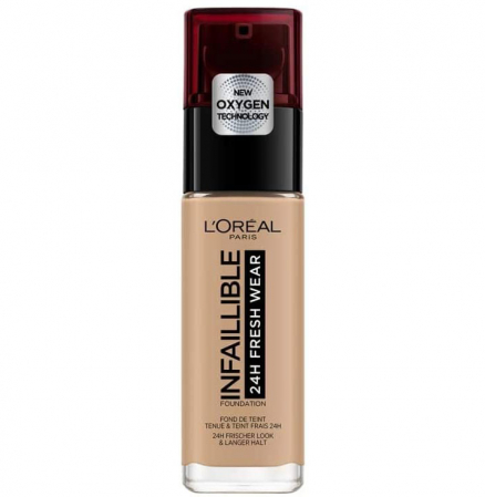 Fond de ten L'Oreal Paris Infaillible 24H Fresh Wear, 230 Radiant Honey, 30 ml0