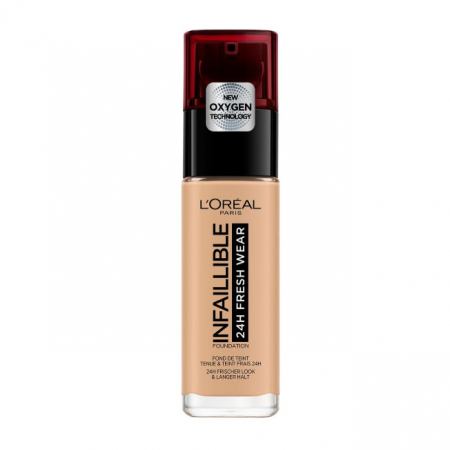 Fond de ten L'Oreal Paris Infaillible 24H Fresh Wear, 220 Sand, 30 ml