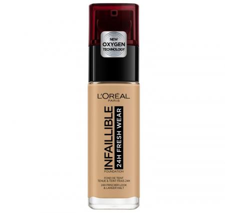 Fond de ten L'Oreal Paris Infaillible 24H Fresh Wear, 250 Radiant Sand, 30 ml