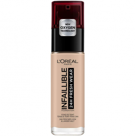 Fond de ten L'Oreal Paris Infaillible 24H Fresh Wear, 110 Rose Vanilla, 30 ml