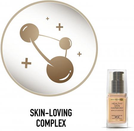 Fond de ten Max Factor Healthy Skin Harmony Miracle, 45 Warm Almond, 30 ml4