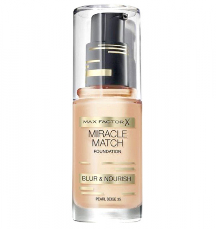 Fond de ten Max Factor Miracle Match, 35 Pearl Beige, 30 ml