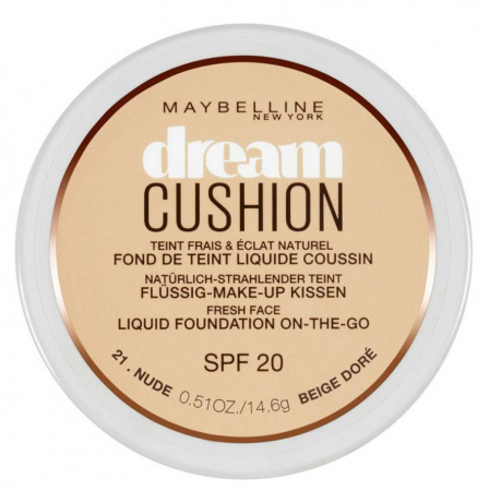 Fond de ten Maybelline Dream Cushion Liquid Foundation, 21 Nude, 14.6 g