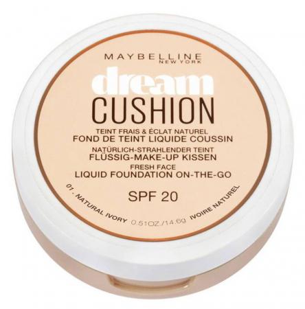 Fond de ten Maybelline Dream Cushion Liquid Foundation, 01 Natural Ivory, 14.6 g3