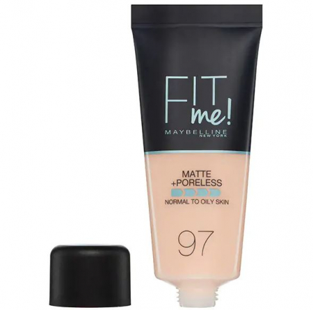 Fond de ten MAYBELLINE FIT ME Matte & Poreless 97 Natural Porcelain, 30 ml
