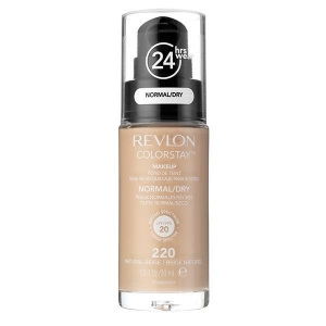Fond De Ten Revlon Colorstay Dry Skin Cu Pompita - 220 Natural Beige, 30ml