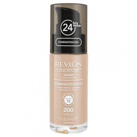 Fond De Ten Revlon Colorstay Oily Skin Cu Pompita - 200 Nude, 30ml