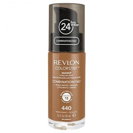 Fond De Ten Revlon Colorstay Oily Skin Cu Pompita - 440 Mahogany, 30ml0
