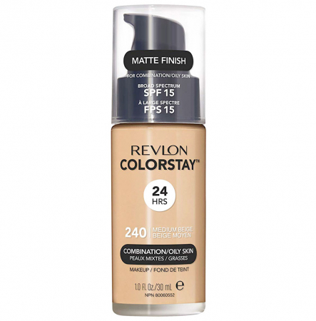 Fond De Ten Revlon Colorstay Oily Skin MATTE FINISH, 24H, SPF 15 - 240 Medium Beige, 30ml