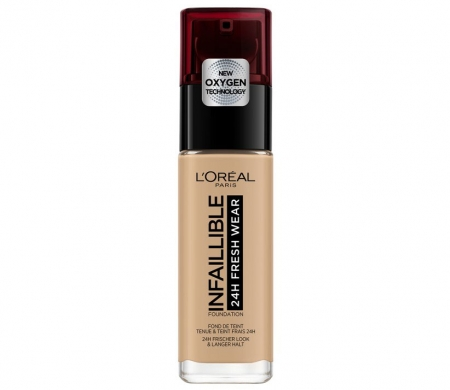 Fond de ten L'Oreal Paris Infaillible 24H Fresh Wear, 140 Golden Beige, 30 ml0
