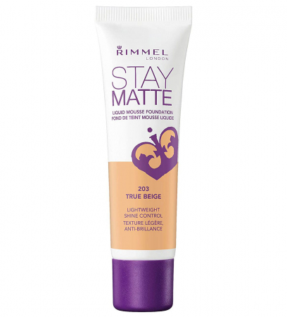 Fond de ten Rimmel London Stay Matte Liquid Mousse, 203 True Beige, 30 ml