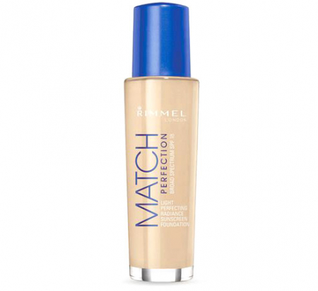 Fond de ten Rimmel London Match Perfection, 081 Fair Ivory, SPF 18, 30 ml