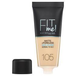 Fond de ten MAYBELLINE FIT ME Matte & Poreless 105 Natural Ivory, 30 ml