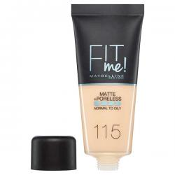 Fond de ten MAYBELLINE FIT ME Matte & Poreless 115 Ivory, 30 ml