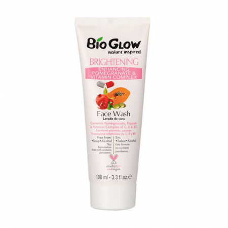 Gel de curatare facial Bio Glow cu Rodie, Papaya si complex de Vitamina C, E & B5, 100 ml