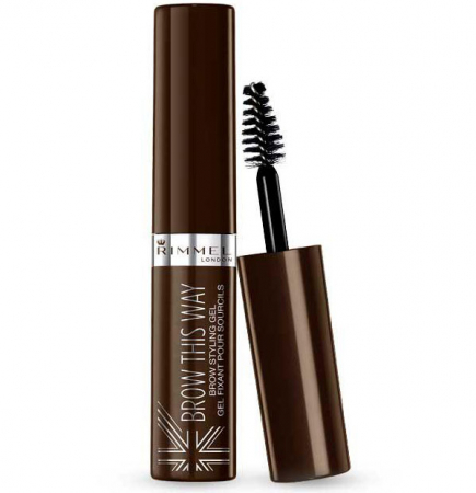 Gel pentru Sprancene Rimmel London Brow This Way, 003 Dark Brown, 5 ml