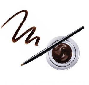 Gel Contur de Ochi cu Pensula Ultra-Rezistent Ushas Gel Eyeliner-Maro