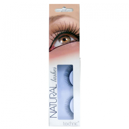 Gene False cu Aspect Natural TECHNIC Natural Lashes, adeziv inclus BC310