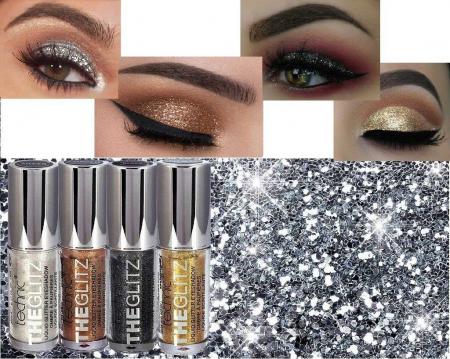 Set de 4 Glittere Lichide Technic THE GLITZ Eye Set, 4 ml x 4 culori3