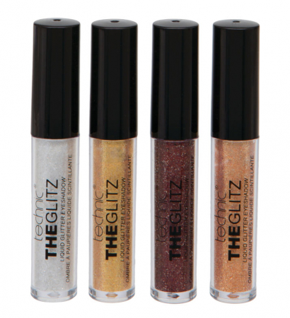 Set de 4 Glittere Lichide Technic THE GLITZ Eye Set, 4 ml x 4 culori