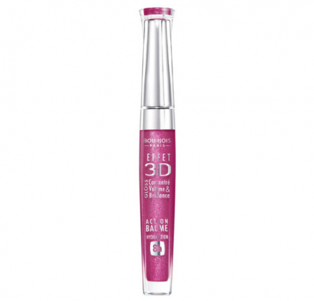 Gloss Bourjois 3D Effet Volume & Shine 8H - 23 Framboise Magnific, 5.7 ml