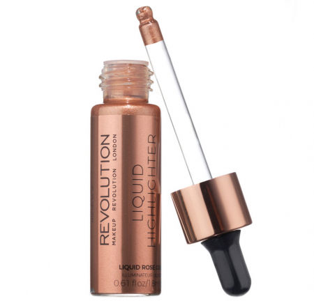 Iluminator lichid Makeup Revolution Liquid Highlighter, Rose Gold, 18 ml