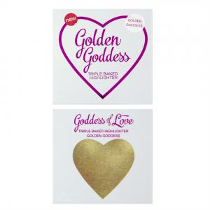 Iluminator Makeup Revolution I Heart Makeup Blushing Hearts Baked Highlighter - Golden Goddess, 10g2