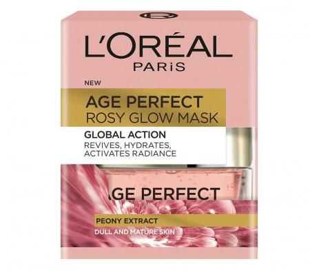 Masca regeneranta pentru ten imbatranit L'Oreal Paris Age Perfect Rosy Glow, 50 ml