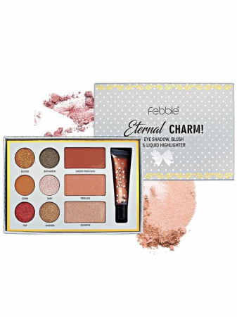 Kit makeup Febble Eternal Charm Eye Shadow, Blush & Liquid Highlighter