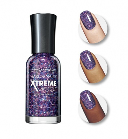 Lac de unghii Sally Hansen Hard As Nails Xtreme Wear, Glitter Effect, 450 Jam Packed1