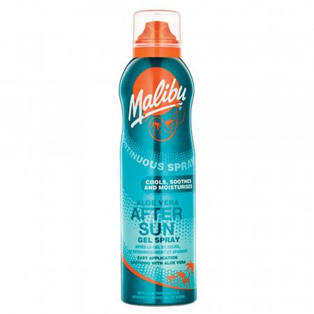 Spray After Sun MALIBU Continuous Gel Spray cu Aloe Vera, 175 ml